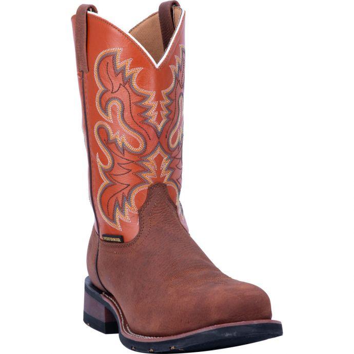 8504759e1d5 Dan Post Laredo Edwards Mens Square Steel Toe Western Work Boots 69436