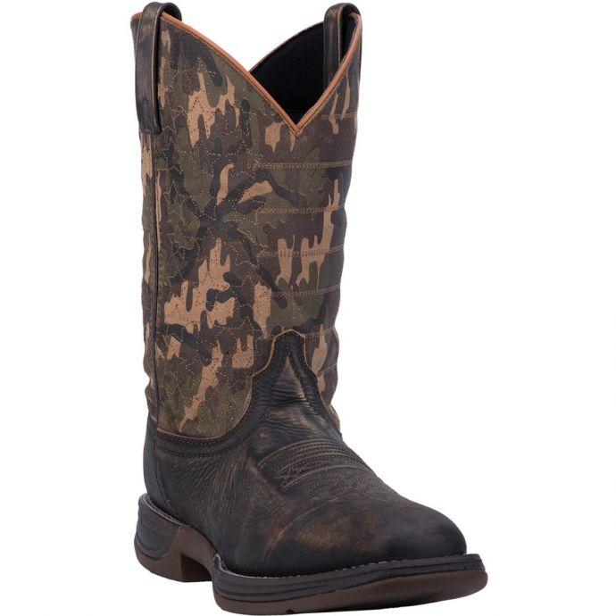 212a1639030b0d Dan Post Delta Mens Camo Broad Square Toe Western Boots 7447