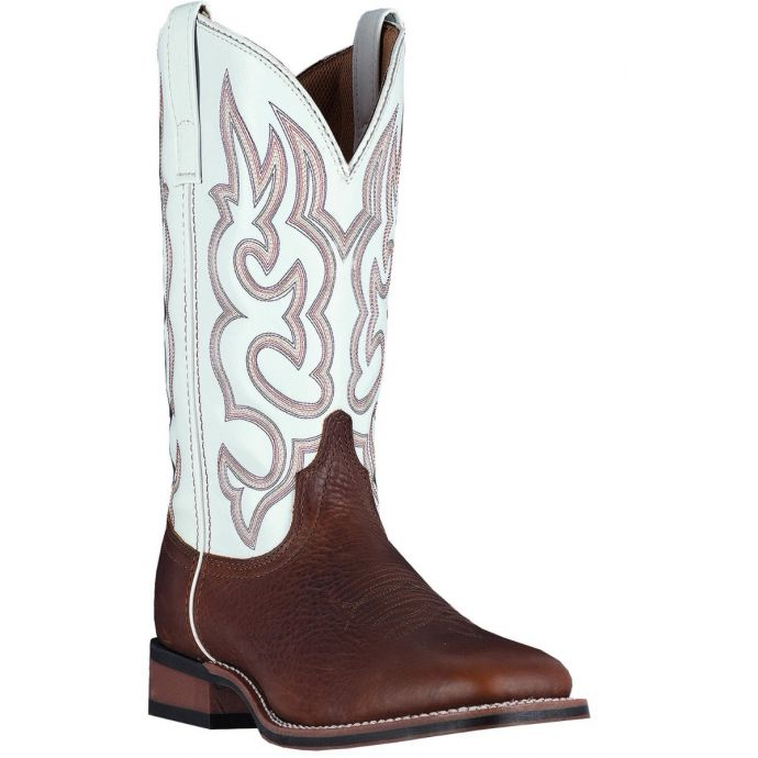 254a2378423 Dan Post Laredo Redwood/White Lodi Mens Square Toe Western Boots 7891  **ONLINE ONLY**