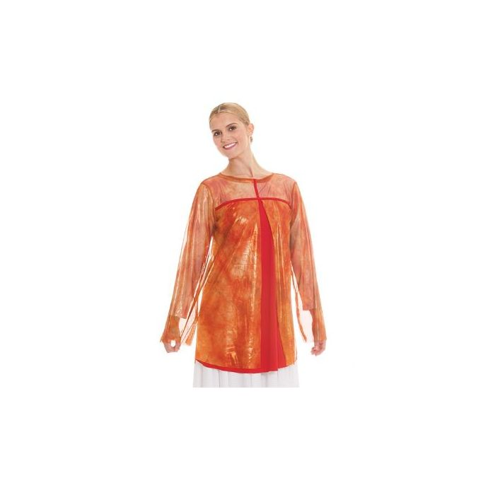 9e63a250bc4e Home; Eurotard Girls Flame of Fire Split Layer Tunic Top 80830C **ONLINE  ONLY**. Skip to the end of the images gallery