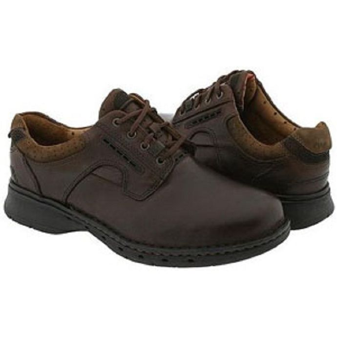 a25c1937 Clarks Unstructured Unravel Oxford Brown Leather Mens Casual 85016