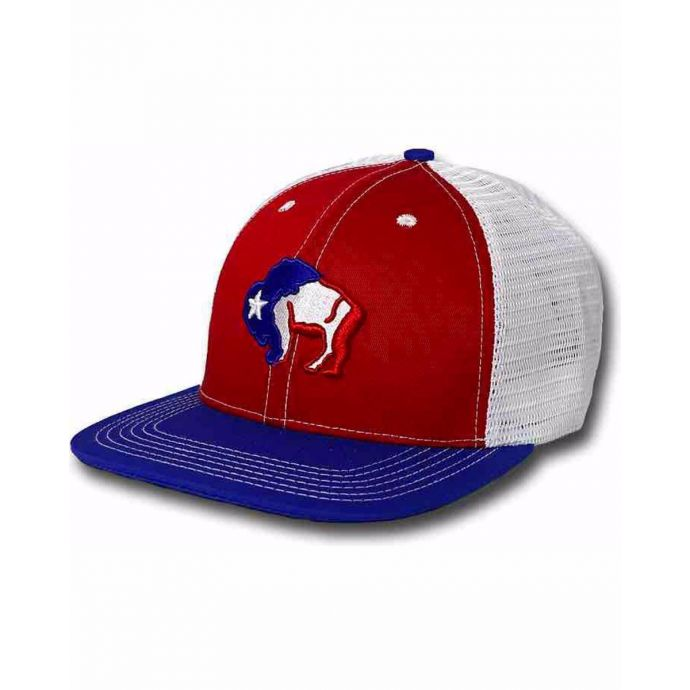 4cf401bf3768fa Hooey First Six Red White and Blue Snapback Cap 9400-RWBL