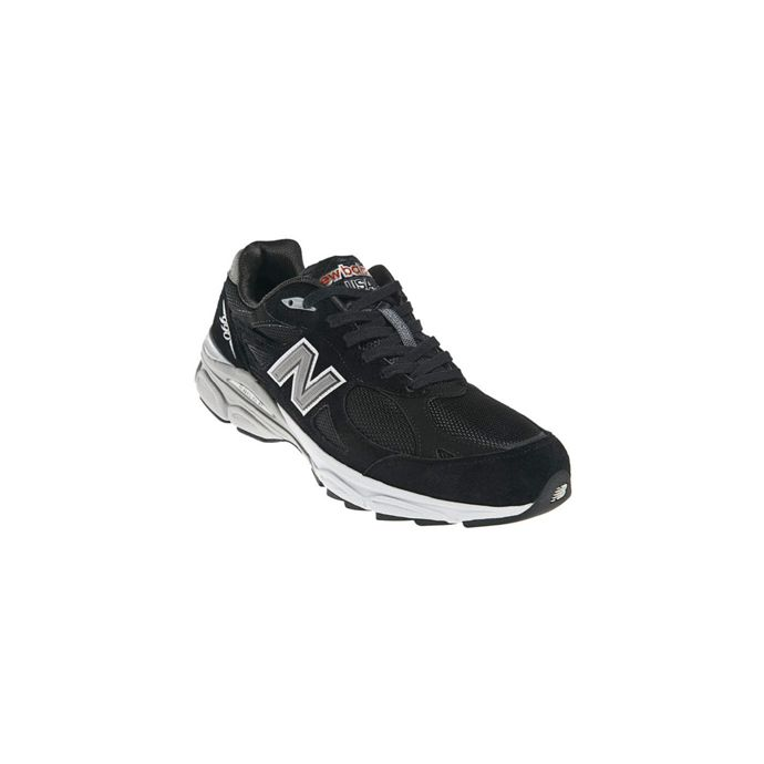 differently 37cb5 2b154 M990BK3 Black Heritage Made in USA Stability New Balance Mens Running Shoes