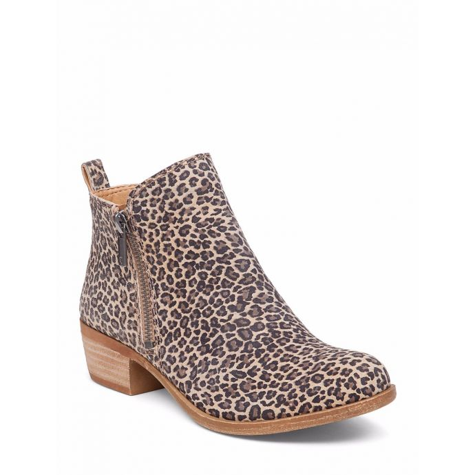 513f126492cb Home; Lucky Brand Basel Leopard Print Flat Womens Booties BASEL-LEOPARD.  Skip to the end of the images gallery