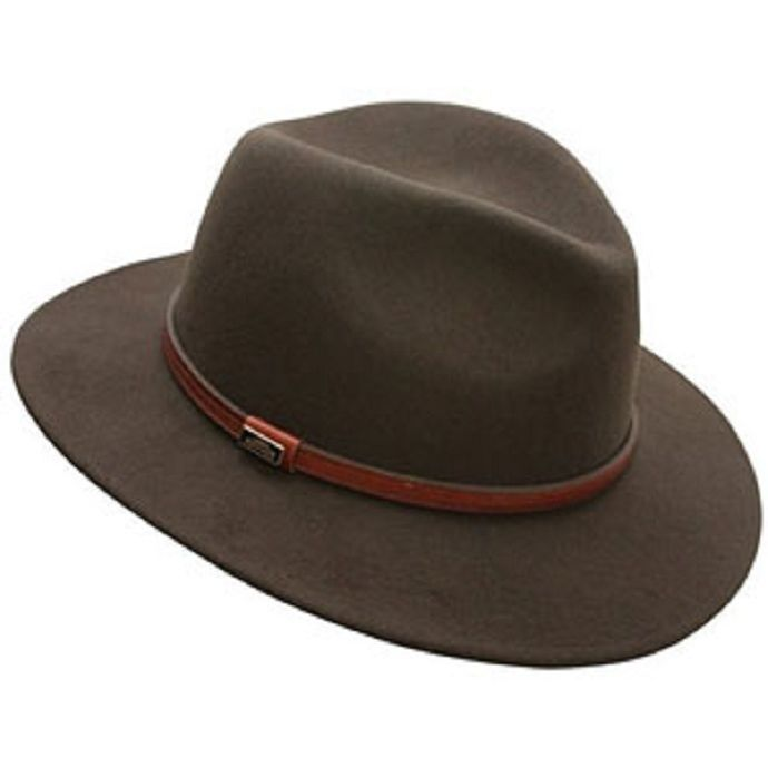 776378ff2 C1021 Brown Wool Felt Crushable BC/Cov-Ver Mens Western Cowboy Hats