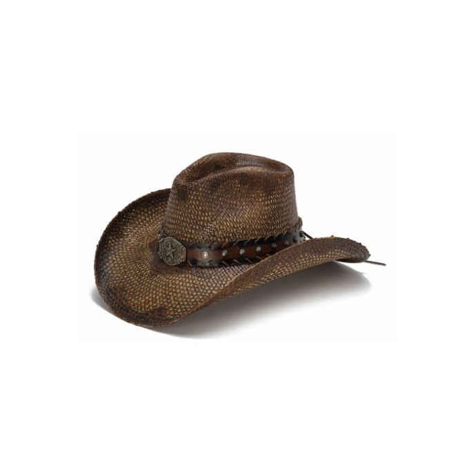3e5ff7343 California Hat Company Brown Genuine Panama Straw Western Hat CA-1742