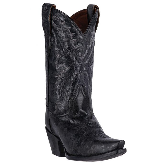 ea9e1c96af1 DP2423 Black Leather Snip Toe Dan Post Womens Western Cowboy Boots