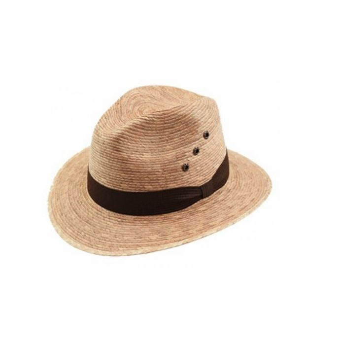 dc61c39d90f58 Home  California Hat Company Toast Palm Leaf Fedora Hat FD-880. Skip to the  end of the images gallery