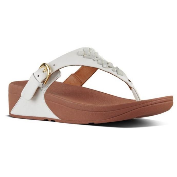 2caffe0a0286e Home; FitFlop White Skinny Crystal Toe-Thong Womens Sandals K22-194. Skip  to the end of the images gallery