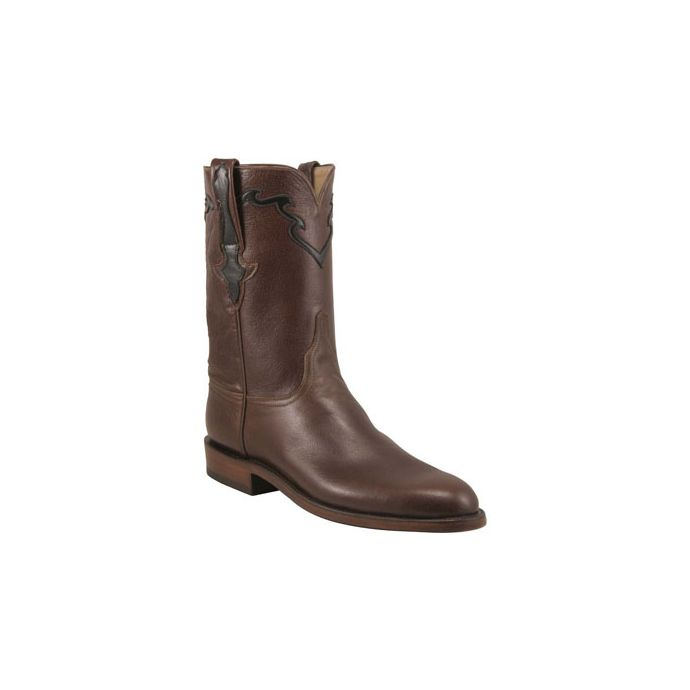 5da1049f23f L3555 Baby Buffalo Calf 10inch Roper Lucchese Mens Cowboy Boots