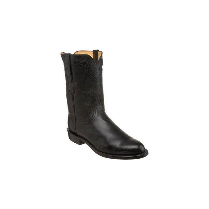 1c3815b9b70 L3556 Baby Buffalo Calf 10 inch Roper Lucchese Mens Cowboy Boots
