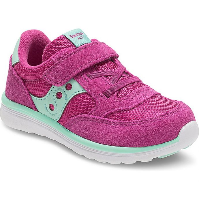 quality design 8f829 8bbc8 Saucony Baby Jazz Lite Sneaker Turquoise Velcro Closure Kids Shoes