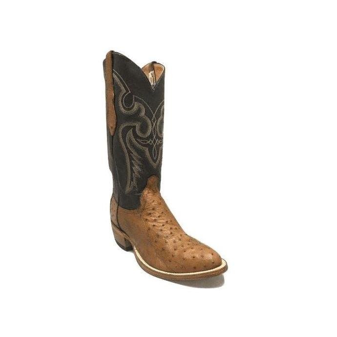 db17423bd2d Cowtown Men's Brown 4-Piece Ostrich Leather Western Boots W174