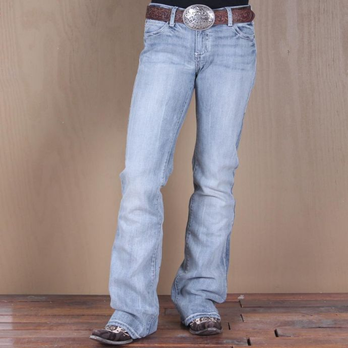 f348e59a WJX45MY Stonewash Rock 47 Mystical Magic Flap Pocket Wrangler Ladies Jeans