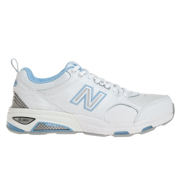 bf29de093e WX857WB2 White Light Blue Cross Trainer with Rollbar New Balance Womens  Running Shoes
