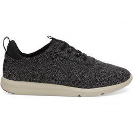 Toms Black Terry Cloth Cabrillo Womens Comfort Sneaker 10012420
