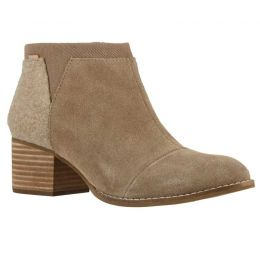 Toms Taupe Gray Suede Loren Womens Casual Short Bootie 10014146