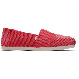 Toms Red Micro Cord Womens Classic Shoes 10014417