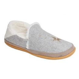 TOMS Women's Drizzle Grey Felt/Embroidery India Bootie Slipper 10014634