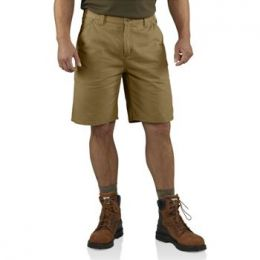100245-253 Dark Khaki Washed Twill Dungaree Carhartt Mens Shorts