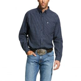 Ariat Black Iris Mens Pro Series Lemore Classic Fit Long Sleeve Shirt 10030732