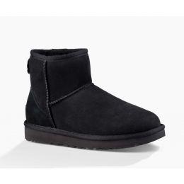 UGG Black Classic Mini II Womens Short Boots 1016222