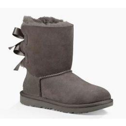 UGG Grey Bailey Bow ll Kids Comfort Boot 1017394K