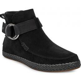 UGG Black SLOANE WOmens Round Toe Pull-On Short Bootie 1103573