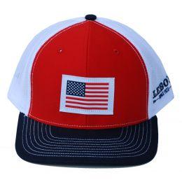 Richardson Custom Woven American Flag Patch Red/White/Navy OSFM Ballcap 112-REWN-USA