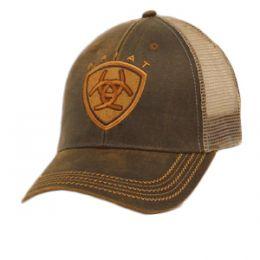 1515602 Ariat Men's Oil Skin Mesh Hat