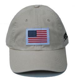 Richardson Custom Woven American Flag Patch Cotton Twill Stone OSFM Ballcap 320-ST-USA