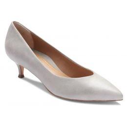 Vionic Light Grey Josie Kitten Womens Versatile Dress Heels 389JOSIE