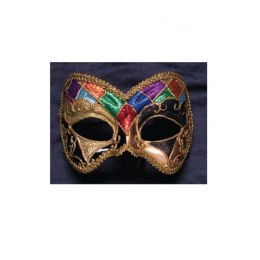 A-140 Multicolor Harlequin Mask