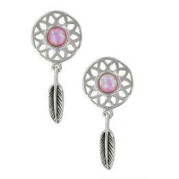 Montana Silversmith Dreaming in Pink Opal Earrings ER3853
