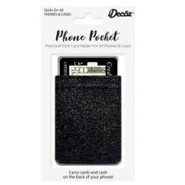 IDecoz Black Glitter Phone Pocket GL657C