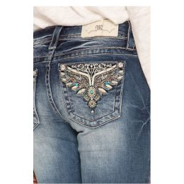 MIss Me Dark Wash Sweet Escape Womens Bootcut Jeans M3434B