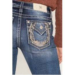 Miss Me Jeans Dark Wash Lucky Feeling Womens Bootcut Jeans M3460B