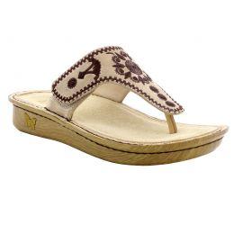 Alegria Vanessa Mandala Natural Womens Thong Sandals VAN-178
