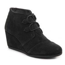 Toms Black Kala Womens Comfort Wedge Booties 10012955