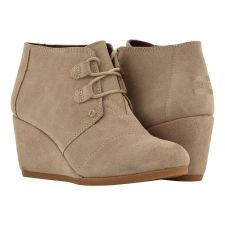 Toms Taupe Kala Womens Comfort Wedge Booties 10012956