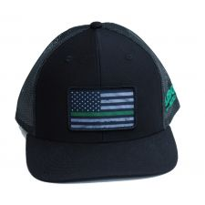 Richardson Custom Thin Green Line Flag Sublimation Patch Black OSFM Ballcap 112B-GREENLINE