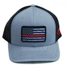 Richardson Custom Thin Red Line Flag Sublimation Patch Heather Grey/Black OSFM Ballcap 112HGB-REDLINE