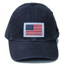 Richardson Custom Woven American Flag Patch Cotton Twill Charcoal OSFM Ballcap 320-CH-USA