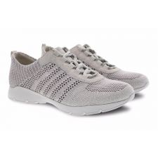 Dansko Ivory Adrianne Washed Knit Comfort Casual Lace-Up Sneaker 4455-611861