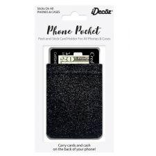 IDecoz Black Glitter Phone Pocket GL657C