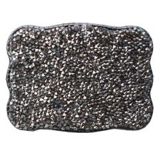 Wallet Buckle Graphite Crystal  Womens Belt Buckle