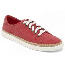 Vionic Hattie Red Soft Canvas Comfort Lace Sneaker Womens Shoes HATTIE-RED