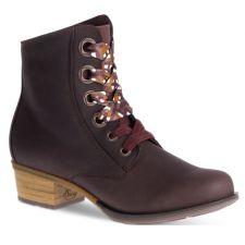 Chaco Mahogany Cataluna Mid Lace Womens Short Boots J106790