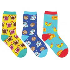 SockSmith Kids BFF (Best Foods Forever) - 3 Pack Socks KC70014