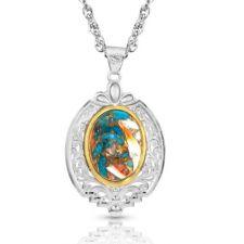 Montana Silversmith Sweet Memories Mountain Glacier Turquoise Necklace NC3920MTQ